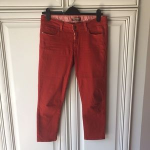 Paige red skinny jean size 30